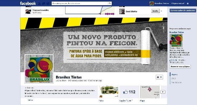 Página da empresa no Facebook chama atenção