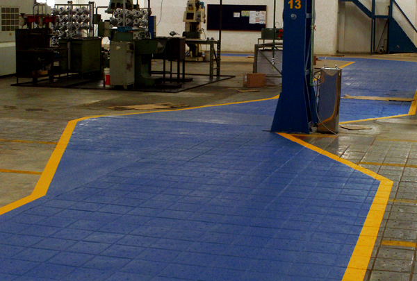 Exemplo de usina com o novo epóxi aplicado; resistência e durabilidade garantidos