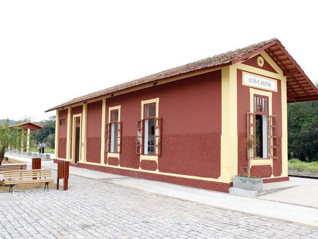 Renovada, estação de Luís Carlos receberá passeios da Maria Fumaça