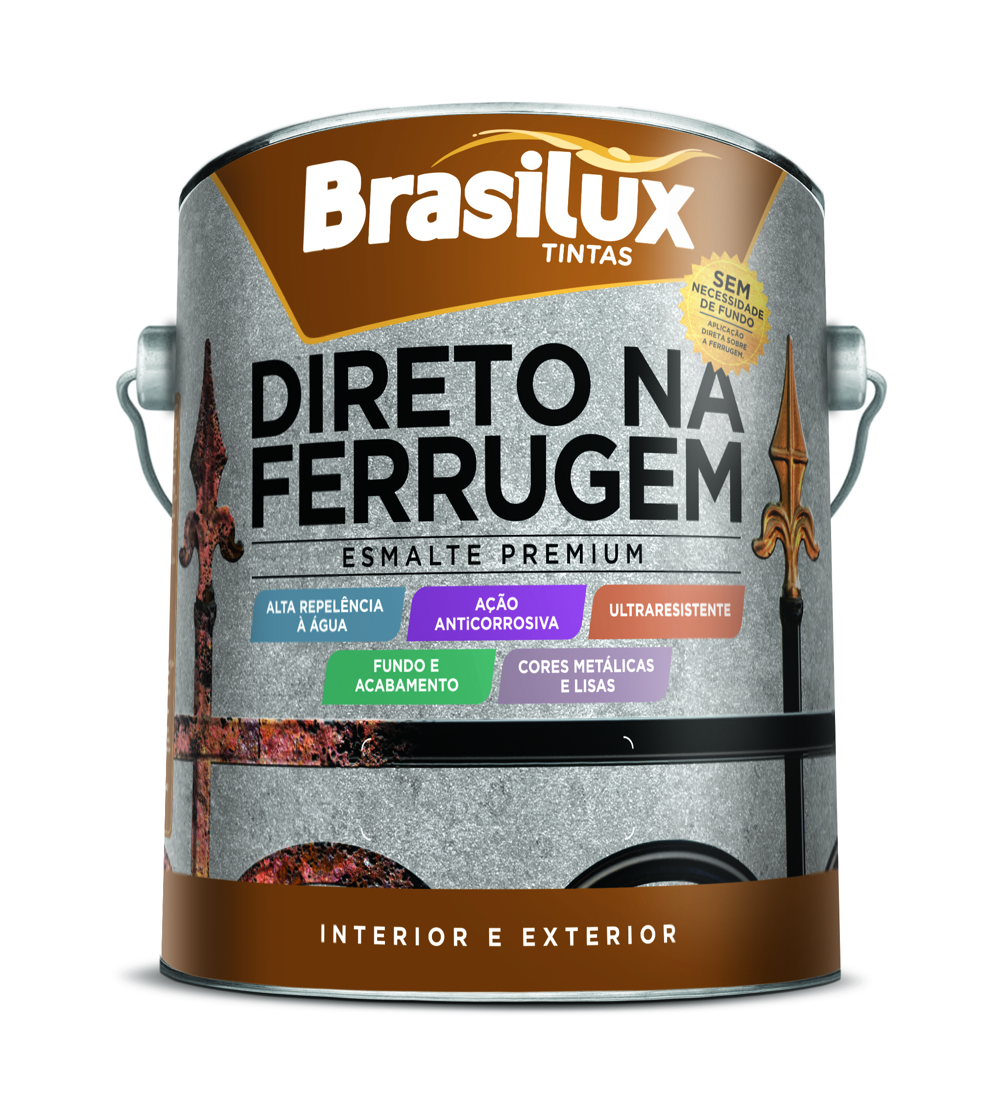 Esmalte Sintético Brasilar-Direto Na Ferrugem